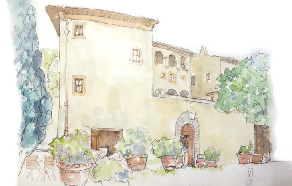 Die Villa Filicaja in Montaione/Toskana – Italien – Bild 1 [Aquarell]